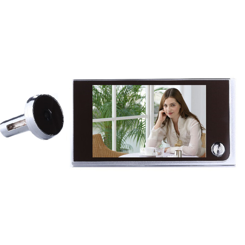28 lcd monitor digital door peephole viewer 3x zoom camera photo cam doorbell free shipping