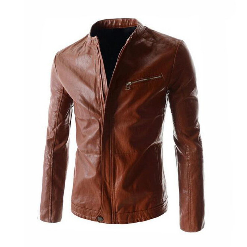 Xhilaration faux leather stand up neck moto jacket ebony