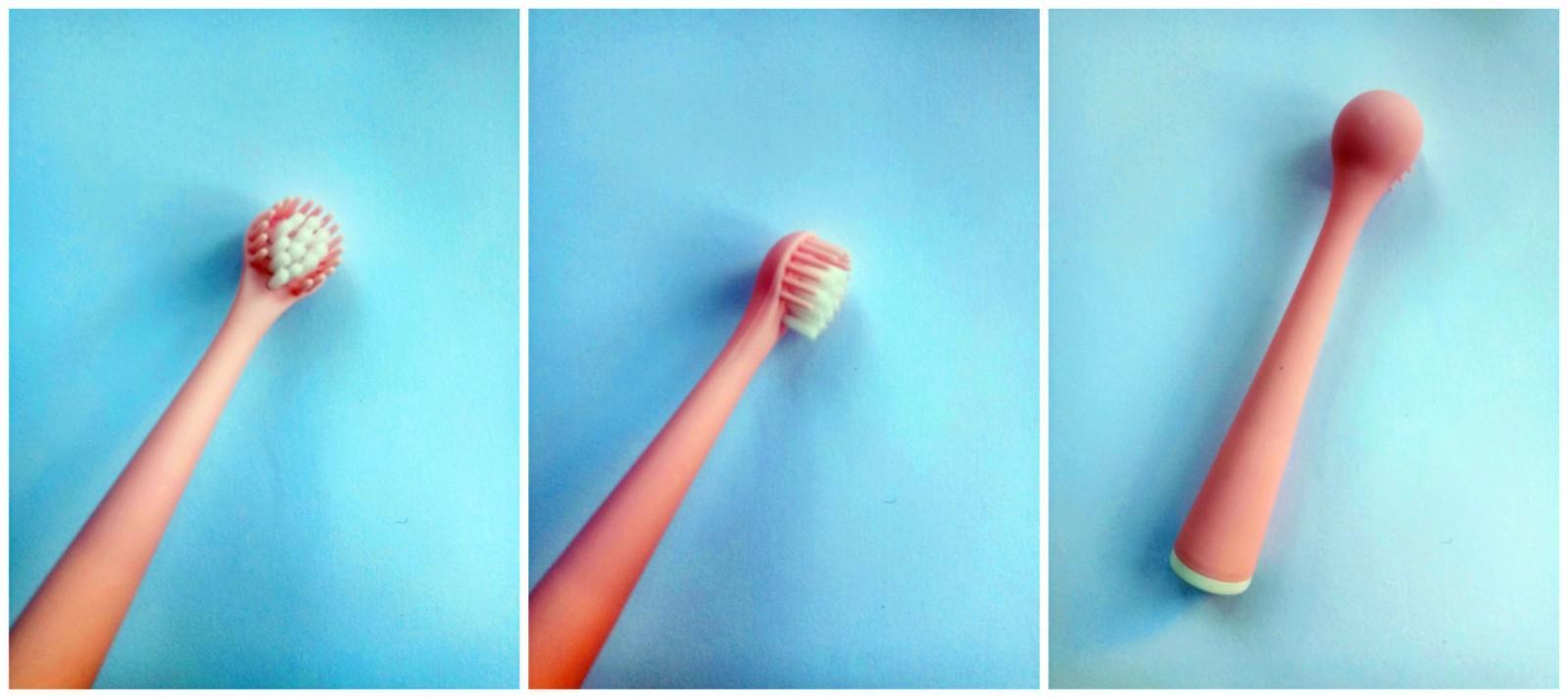 一只超级软萌可爱又实用的分段护理儿童牙刷