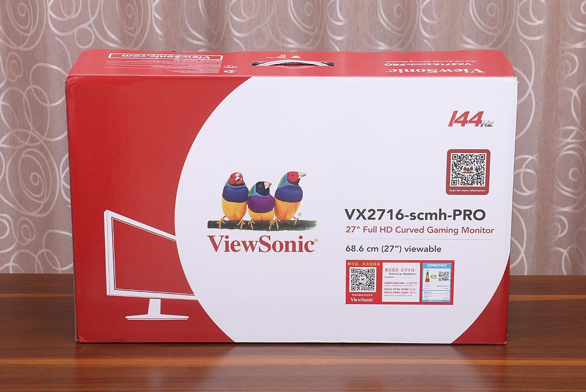 为守望先锋添装备,优派 VX2716-SCMH-PRO 显示器小晒