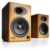 Звук двигателя (Audioengine) А5 + N, расширенный книжной полки активный динамик карамель - твердый бамбук обугленные