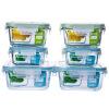[Супермаркет] Jingdong Beit Осина (BestHA) термостойкого стекла четче шесть наборов (400мл * 2 + 450мл * 2 + 800мл * 2) применяется микроволновые печи коробки холодильник RL6-01 микроволновые печи