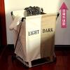 [Супермаркет] Jingdong Европа Юна Чула корзина для белья японских двухъярусной ткани Оксфорд складной корзины для белья отделки утолщенного большого хранения Zangyi