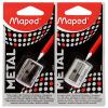 Ма Peide (Maped) 034019 отверстия сплава точилка точилка пластиковая maped stop signal одно отверстие с контейнером