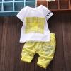 Летняя детская одежда для мальчиков Повседневная хлопка Lovely Short Sleeve Shirt + Pant Детская новорожденная детская одежда Детс