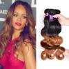 3 пучка Ombre бразильские волосы для волос с волной волос 1B / 30 Remy Hair Weave Выпрямления для волос можно купить больше босоножки