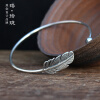 Luo Linglong s925 Thai silver feather ladies bracelet about personality temperament retro gift couple bracelet hand original серьги set of thai silver square 925