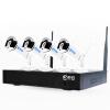 JoAnn JOOAN 734KRK-W-3.6 беспроводное оборудование для мониторинга комплект домашнего телефона wifi HD ночного видения водонепроницаемая камера 8-канальный монитор