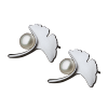Luo Linglong s925 sterling silver earrings female ginkgo leaves natural pearl earrings decorated allergy simple temperament art luo linglong s925 sterling silver necklace pendant butterfly necklace jewelry anti allergic simple temperament personality fresh