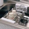 Pao Yanni стойки для раковины Lek столы кухонные столы корзина для дренажа телескопическая корзина для фруктов 304 стойка для раковины из нержавеющей стали Корзина для мытья посуды DQ0076