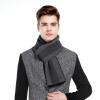 CACUSS W0040 чистой шерсти утолщение качества мужские шарфы зимняя шерсть шарфы мужская подарочная коробка теплый серый один размер