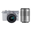 Canon (Canon) EOS M100 миниатюрный одиночный комплект головы белый (EF-M 15-45mm) и (EF-M 55-200mm) ismartdigi lp e6 7 4v 1800mah lithium battery for canon eos 60d eos 5d mark ii eos 7d