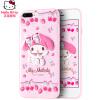 7/8 Plus Hello Kitty Apple, телефон оболочки iPhone7 / 8 Plus защитный рукав милый мультфильм мобильных телефонов наборы из все включено трехмерным падение сопротивления 5,5 дюйма - красочное Melody