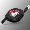 все цены на Apple, Hello Kitty Выдвижной кабель iPhoneX / 8/7/6 / 6с Plus / IPad зарядный кабель мультфильм концентрические мило Hello Kitty онлайн
