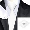 n-0341 Vogue мужчин шелковым галстуком установлены белые твердых галстук платок запонки установить связи для мужчин официальный свадебный бизнес оптом белые футболки оптом спб