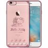Hello Kitty Apple, 6 / 6с Плюс телефон оболочка iPhone6 / 6с Плюс мультфильм прозрачная Выдерживает падение защитного рукава оболочка покрытие 5,5 дюймов контроля бабочки