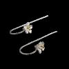 Luo Linglong s925 sterling silver earrings earrings female gold plated five flower ear earrings earrings simple retro art Valentin