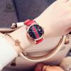 GUOU Роскошный бренд Женские кварцевые часы Женские кожаные ремешки Часы Модные платья Часы наручные часы часы ремешки и браслеты