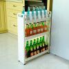 Ni По отличной полки кухонного пола слой 3 мобильных стойка стойка хранения для хранения полки зазор Зазор стеллажи кухня DQ1308