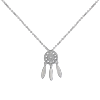 все цены на Luo Linglong s925 sterling silver dream net pendant necklace anti-allergic simple temperament personality fresh hand original gift онлайн