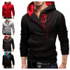 2017 HOT! New Style Mens Casual Letters Fashion Simple Zipper Hooded Sweater Coat for Men new men s military style casual fashion canvas outdoor camping travel hooded trench coat outerwear mens army parka long jackets