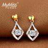 MyMiss925 серебро платина покрыли циркон серьги серебряные серьги женщина коагуляция движение