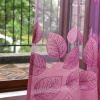 Листья Burnout Фиолетовые тюлевые занавески для гостиной Роскошные оконные шторы для спальни Кухни Шторы для детской комнаты Sheer для гостиной