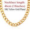U7 Большой Коренастый Мужчины ожерелье 18K Real Позолоченные 11 ММ Толстая кубинская Цепочка Мужчины оптовой продажи ювелирных изделий