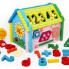 Детские игрушки могут Ai Buding цифровые формы разборки дома деревянные игрушки строительные блоки в сочетании мальчиков и девочек, развивающие игрушки подарок на день рождения троянская мудрость 100 красочные алфавит блоки детские развивающие игрушки деревянные развивающие игрушки барабаны подарки
