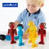 США guidecraft магнитная палочка головоломка игрушка строительные блоки игрушки куклы профессиональные образовательные игрушки детские магнитные блоки трехмерные строительные блоки собраны игрушки G8306 силикатные блоки в гродно