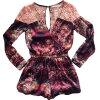 Lovaru ™летом стиль Женщины Летняя мода для печати Комбинезоны Vestidos Повседневная шифон Комбинезоны выдалбливают одежду