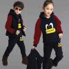 Дети Дети Девочки Мальчики Одежда Установить Осень Зима 3-Piece Наборы с капюшоном Пальто костюмы Падение хлопка Baby Boys Одежда