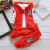 Детская одежда Minnie мыши прибытия Девушки Одежда набор 3pcs / set baby девочек случайный костюм хлопка Футболка с длинным рукавом + пальто + трусы