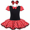 Baby Kids Dress Minnie Mouse Party Необычные костюмы Cosplay Girls Ballet Tutu Dress + Ear Headband Girl Polka Dot Clothing Girl Dress maleficent evil queen tutu dress with horns girls tutu dress halloween party purim cosplay children costume photo props ts127