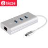 Би Диас (BIAZE) Type-C трансфицировал Gigabit Ethernet USB3.0 HUB разветвитель / ступица Macbook расширитель Apple Computer ZH15- алюминий просо Huawei
