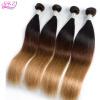QDKZJ Ombre Brazilian Hair Body Wave 1 Bundle 3 Tone 1b 4 27 Blonde Human Hair Weaves Non Remy Hair Extensions 10 pieces 20 remy tape hair extensions 16 ash blonde