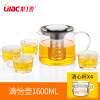 Lilac explosion proof heat resistant glass teapot, thickened health pot, stainless steel filter kettle, domestic tea kettle high temperature resistant glass cool water kettle high capacity tea kettle juice pot 2l