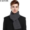 CACUSS W0038 Чистый шерстяной шарф Мужской теплый шарф Подарочная коробка Серый cacuss w0038 чистый шерстяной шарф мужской теплый шарф подарочная коробка серый