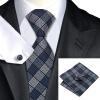 n-1017 Vogue мужчин шелковым галстуком набор plaids & проверок галстук платок запонки набор связей для мужчин официальный свадебный бизнес оптом оптом крепление для авторегистратора