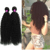 Brazilian Curly Virgin Hair Wefts 4 Bundles Natural Black Brazilian Kinky Curly Hair Weaves 100% Unprocessed Virgin Human Hair evet brazilian kinky straight hair weaves 1pcs 1b black kinky straight virgin hair wefts 100g pcs brazilian virgin hair page 2 page 7 page 1