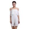 малого @ женщин вязание крючком кружева с плеча белый комбинезон кофта blugirl кофта