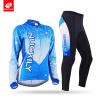 NUCKILYЗимняя женская велосипедная одежда Синяя верховая езда Спортивная одежда с длинным рукавом Велоспорт Джерси Костюм GE009GF0 женская одежда