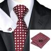Н-0575 моде мужчины Шелковый галстук набор Красный плед галстук платок Запонки набор галстуков для мужчин формальных Свадебный бизнес оптом kludi ambienta 53023 0575