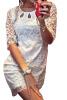 Lovaru ™летом стиль 2015 горячей продажи кружева женщин одевается элегантный оболочки мини одежду с кружевом рукава о-шее пакет хип секси Dre какие наушники dr dre