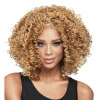 Dalin Curly Wig Heat Resistant Fiber Synthetic Wigs Two Tone Brown and #27 100% Heat Resistant Fiber Kinky Curly Free Style 300g 1