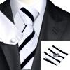 n-1135 Vogue мужчин шелковым галстуком установлен белый новинка галстук платок запонки установить связи для мужчин официальный свадебный бизнес оптом оптом крепление для авторегистратора