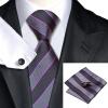 Н-0591 моде мужчины Шелковый галстук набор галстук платок Запонки черная полоса набор галстуков для мужчин формальных Свадебный бизнес оптом оптом крепление для авторегистратора