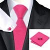 Н-1136 моде мужчины Шелковый галстук набор галстук Запонки платок Красный Новинка набор галстуков для мужчин формальных Свадебный бизнес оптом новинка