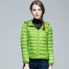S-3XL Ультра легкая зимняя куртка 2017 Модные женщины Утка вниз пальто Твердый цвет закрытый Молнии куртка