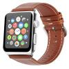 Би Диас (BIAZE) яблоко ремешок часов кожа подходит для Watch1 / Series2 / Series3 Crazy Horse зерна коричневый кожаный ремень 38mm-